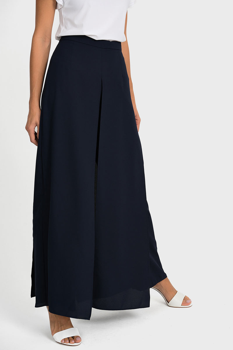 Flared Chiffon Pant in Midnight 192296 - After Hours Boutique