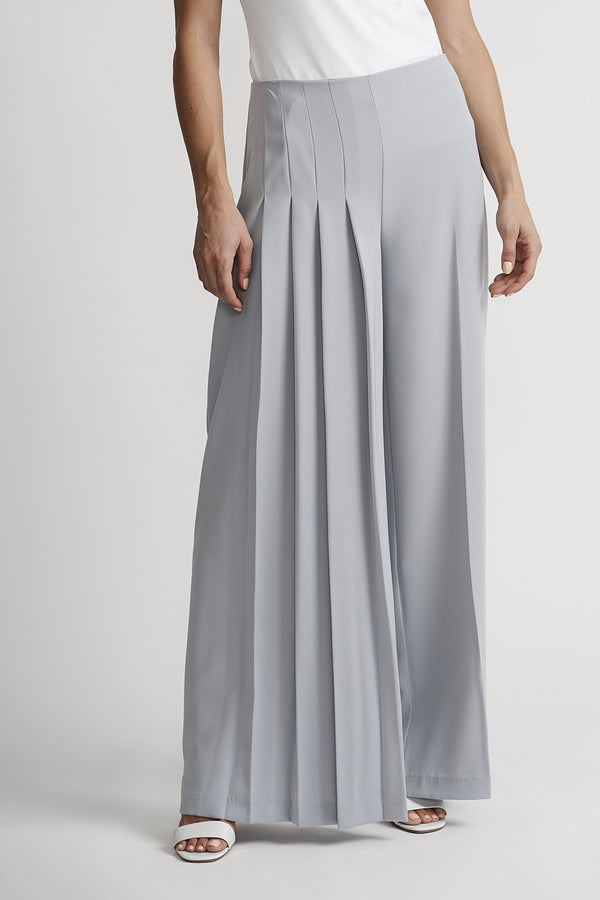 Grey Frost Wide Pleat Pant - 201117