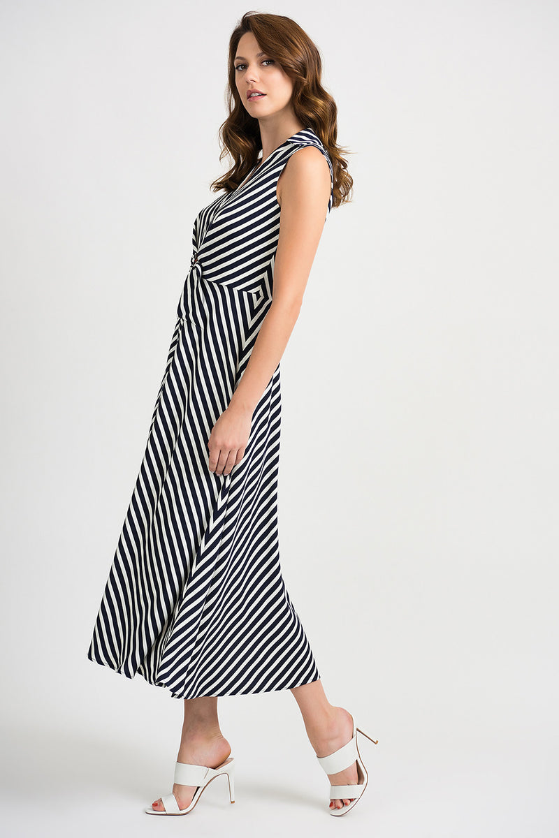 Navy & Vanilla Stripe Dress 201340