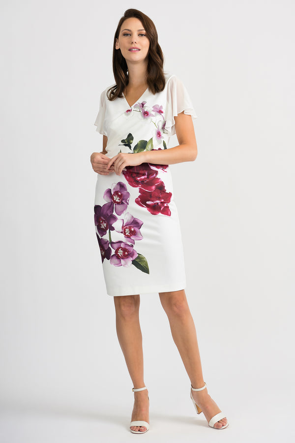 Joseph Ribkoff Vanilla Orchid Dress 201398