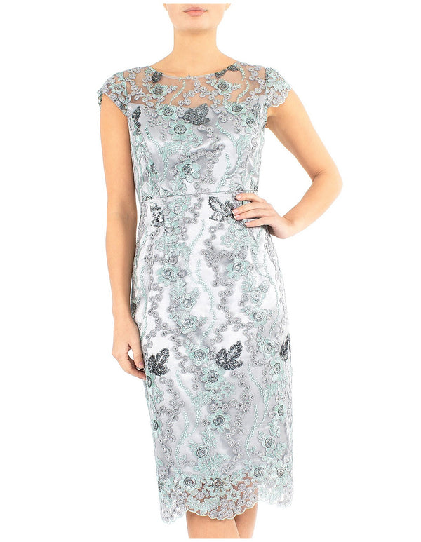 Mist Embroidered Shift Dress UA10530