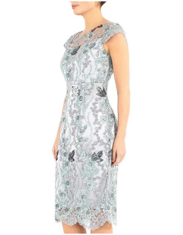 Mist Embroidered Shift Dress UA10530 - After Hours Boutique