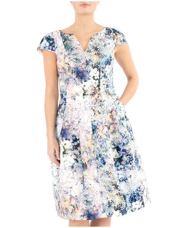 Springtime Print Dress ZC10531