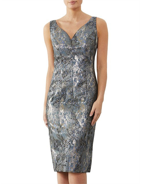 Wedgewood Jacquard Dress OW10466 - After Hours Boutique