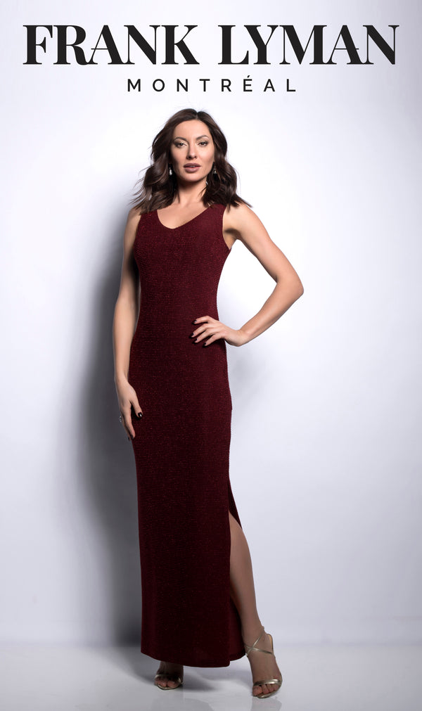 Red Wine Knit Gown 209252