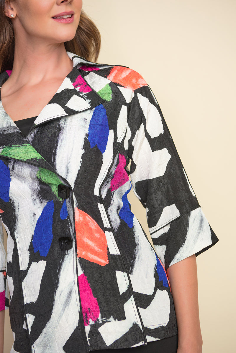 Multi Abstract Print Jacker 212267