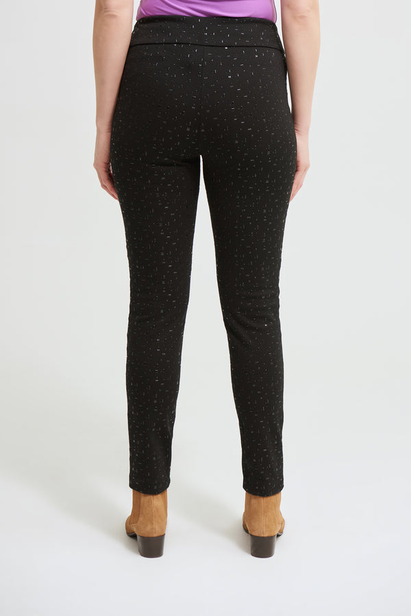 Black Stretch Design Pant -213689