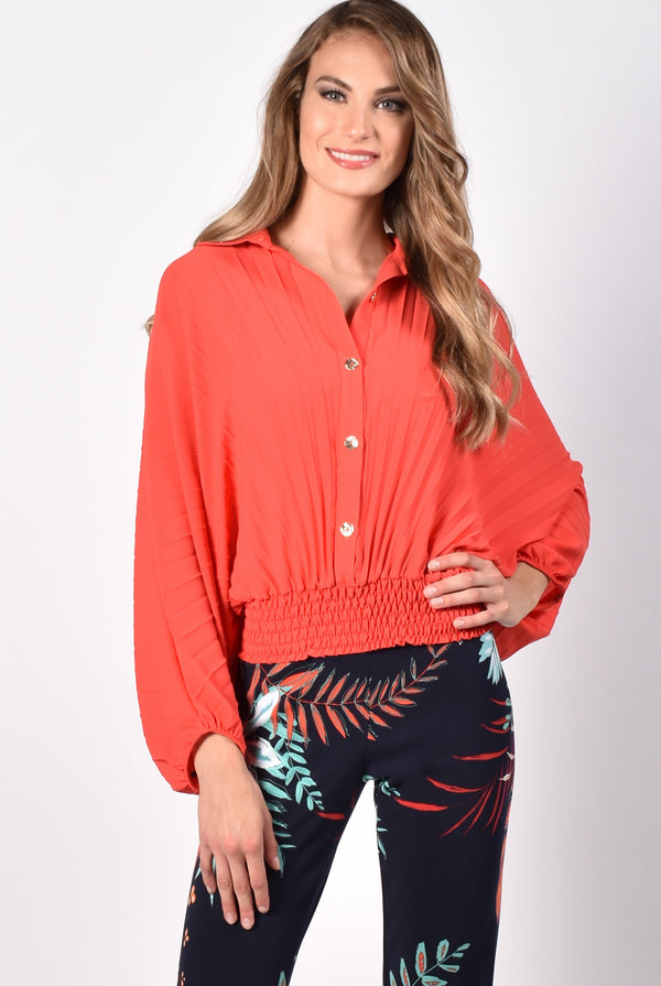 Fire Pleated Top 216331