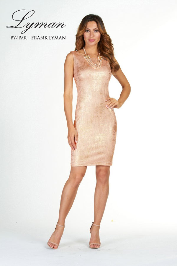 Shimmer Peach Dress 78185 - After Hours Boutique