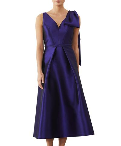 Regal Twill Bow Dress AF10484 - After Hours Boutique