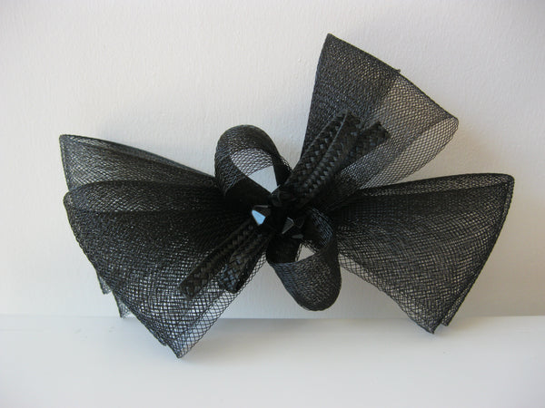 Black Petite Braid Bow
