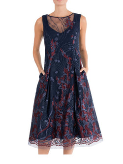 Navy & Ruby A-Line Dress LQ09496