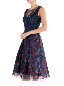 Navy & Ruby A-Line Dress LQ09496 - After Hours Boutique