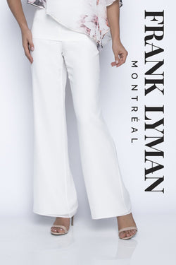 Chiffon Overlay Off White Pant 208188 - After Hours Boutique