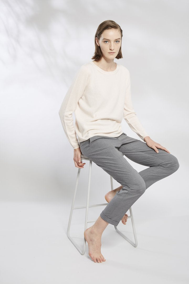 Relaxed Crew Neck Sweater S1012 - After Hours Boutique