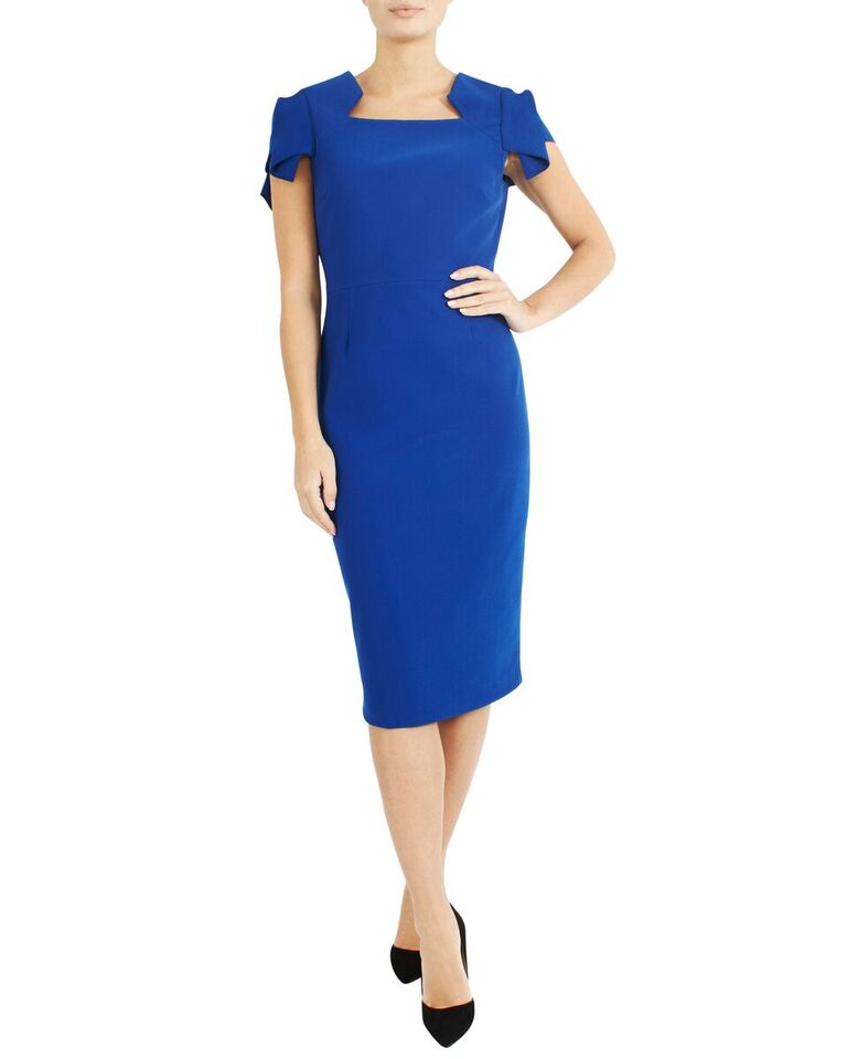 Electric Cap Sleeve Dress MB10510 - After Hours Boutique