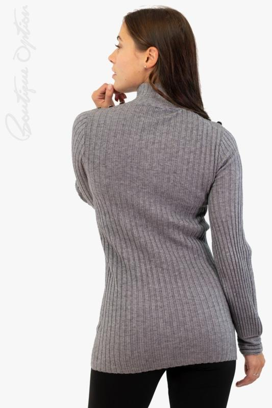 Light Grey Knit Sweater - 203169U