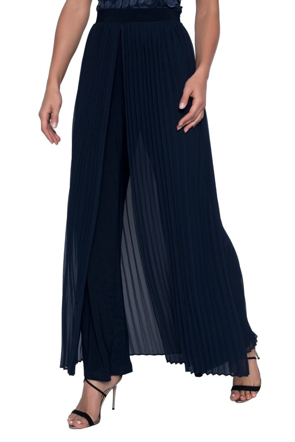 Estelle Midnight Pleated Chiffon Pant 208227