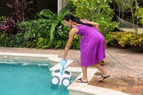 woman using Breeze 4WD in a pool
