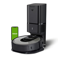 iRobot Roomba i6+ (6550) Robot Vacuum with Automatic Dirt Disposal-Empties Itself, Traps Allergens, Wi-Fi Connected, Works with Alexa, Ideal for Pet Hair, Carpets, + Digital Smart Mapping Upgrade