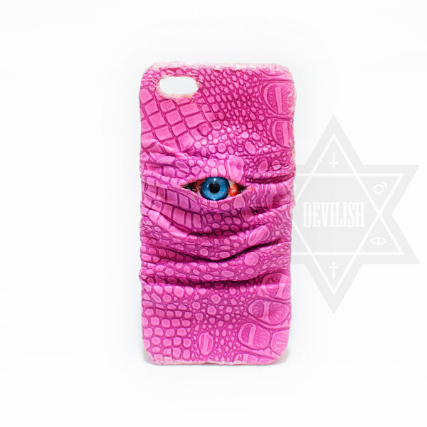 Pink dragon phone case