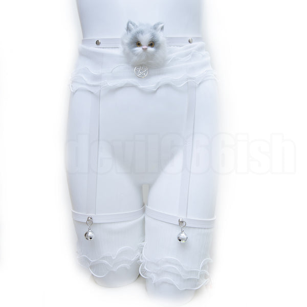 Fancy kitten garter belt
