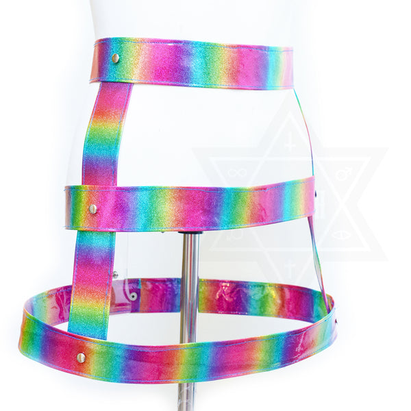 Rainbow love skirt harness
