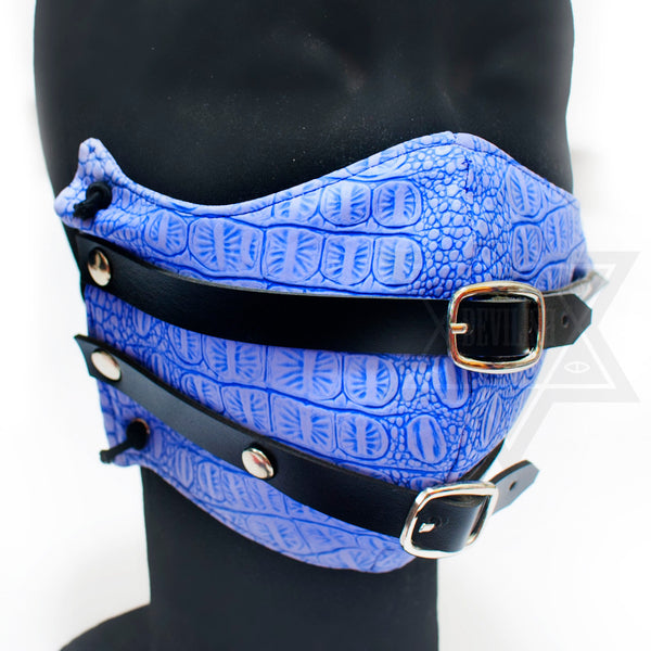 Leather X Leather Mask(Pink,Blue)