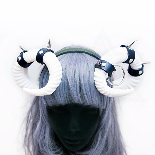 Bondage horns headpiece