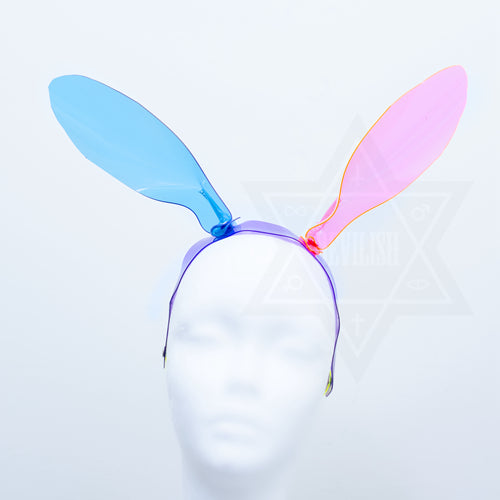 Neon rabbit headpiece