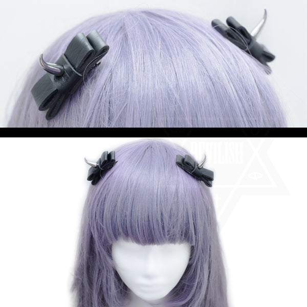 Evil girl hair clips