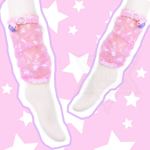 Cosmic kitty leg warmers
