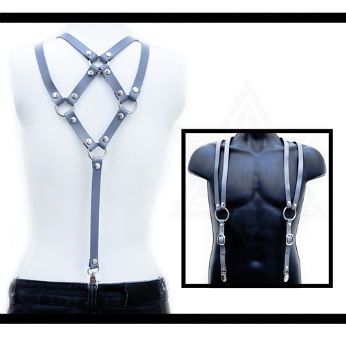 Cowboy  leather suspender