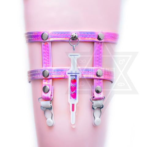 Strawberry injection garter