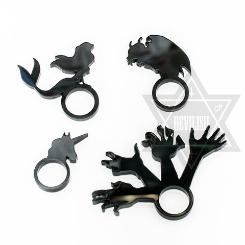 Evil spirit,Mythology,Mermaid,Unicorn Ring