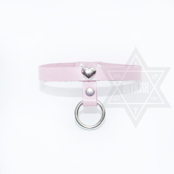 Love ring choker(Black/Pink)
