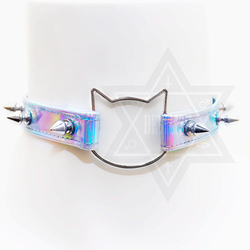 Spiky cat choker
