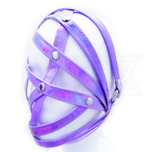 Purple in space face harness