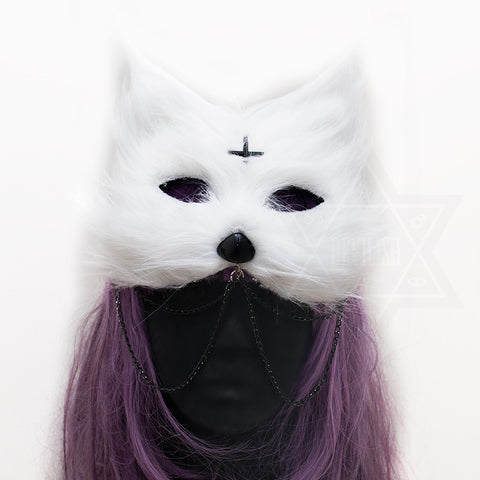 Demon cat headpiece