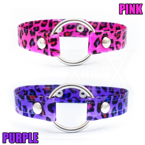 Wild and pink,Wild and purple choker