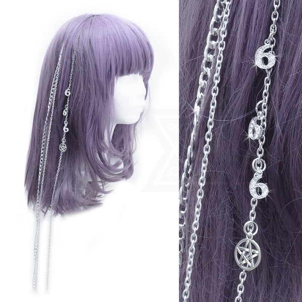 666 hairclip set