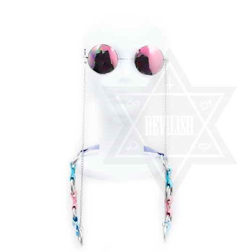 Pastel glasses holder harness