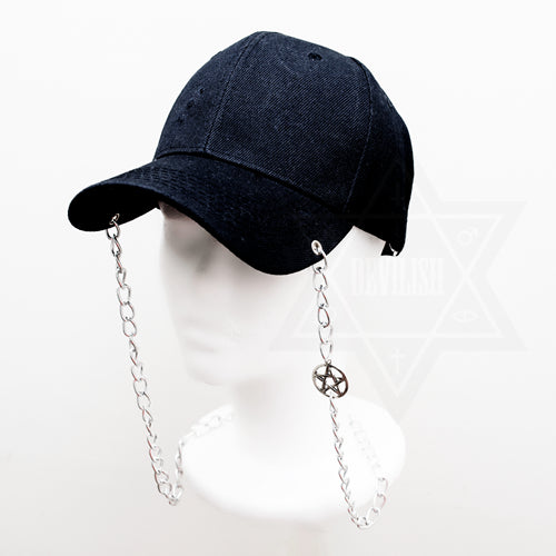 Pentagram chained cap