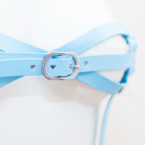 Baby blue harness top
