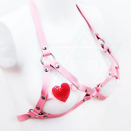 Strawberry heart harness