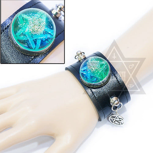 Pentagram ball bangle