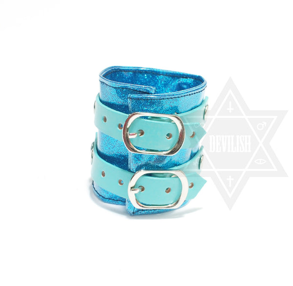 Glitter Layer Leather bangle
