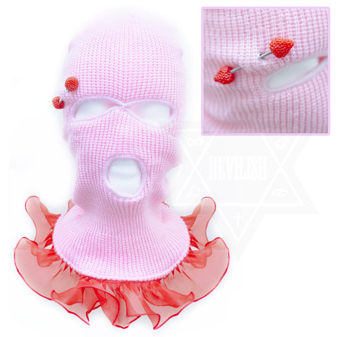 Strawberryholic beanie mask