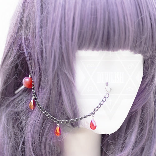 Vampire lollipop nose clip set