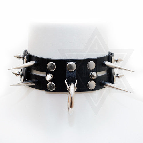 spiky cage choker